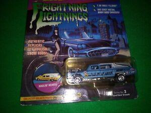 1997 Johnny Lightning Elvira's Fright'ning Hauling Hearse Blue NO GRILL ERROR