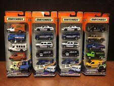 Matchbox 2009 5 Pack Police Squad Service Center City Action Lot Of 4 Dela3023