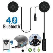 Motorcycle Helmet Headset Speakers Mic Bluetooth Handsfree Music Call Control Us