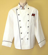 New Nfl Tampa Bay Buccaneers Premium Chef Coat 100% Cotton L Size Football Chief