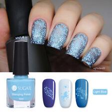 6ml Nail Stamping Polish Light Blue Plate Printing Varnish Nail Art UR Sugar