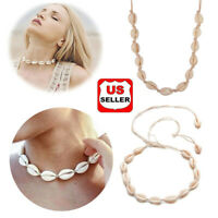 BOHO Beach Bohemian Sea Shell Pendant Chain Choker Necklace Jewelry  | USA