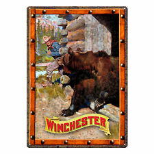 River's Edge Products Tin Sign Winchester Unwelcome Guest Weatherproof 17x12in