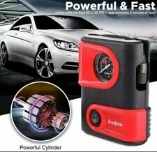 Audew Tire Inflator Car Mini Air Pump Compressor With Gauge 12V DC 100 psi