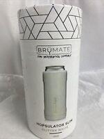 Brumate Hopsulator Slim Can Cooler Tumbler 12 oz Drink Holder Glitter White