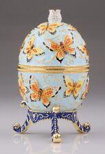 Big butterfly Egg LIMITED EDITION Trinket Box by Keren Kopal Swarovski Crystal