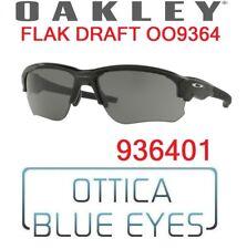 Occhiali da Sole OAKLEY SUNGLASSES OO 9364 936401 FLAK DRAFT BLACK GREY NEW