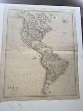 1834 America J Arrowsmith Map From The London Atlas Antique