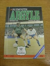 07/03/1987 Plymouth Argyle v Millwall  . Thanks for viewing this item, buy in co