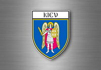 Sticker decal souvenir car coat of arms shield city flag ukraine kiev