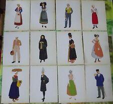 40 Ancienne Planches Costumes Français Alsace ( 1939 ) Basque cheval-Jupon