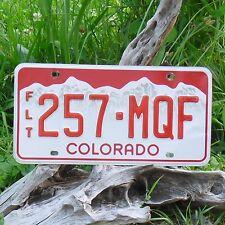 Véritable Plaque D'Immatriculation du Colorado (257MQF) License plate USA