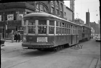 1940s TTC Toronto Transit Trolley #2933 ORIGINAL PHOTO NEGATIVE-Railroad