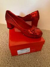 """Ellie Shoes Dorothy Ruby Red Slippers Sequins Costume 2"""" Heel Shoes 6M"""