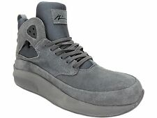 Article No Men's 1115 Casual Hi Sneakers Monochrome Icy Grey Suede 8.5 M