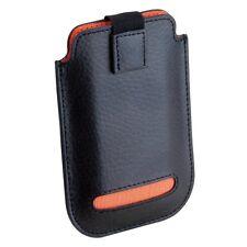 Dulwich Designs Black Leather iPhone 4 & 4S Case Orange Lining 70850