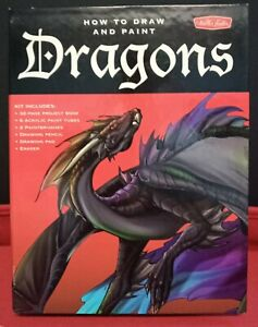 How to Draw and Paint Dragons book and paint [KIT] (2006 Walter Foster)