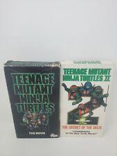 Teenage Mutant Ninja Turtles The Movie 1 and 2 The Secret Of The Ooze VHS