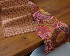 Mira Medallion Leaf Cotton Table Runner