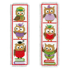 Clever Owls : Vervaco Counted Cross Stitch Kit : Bookmarks -  PN0147887