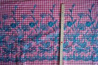 2052/319 tissu Dirndl DE COSTUME FOLKLORIQUE TABLIER PINK Brodé Fleurs 100 x 145