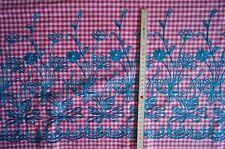 2052/319 tela de vestidos TÍPICOS TRAJE Delantal FUCSIA BORDADO FLORES 100 x 145
