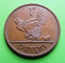 Ireland: 1964 Irish One Penny Coin - Vintage Celtic Harp Hen And Chickens - Eire