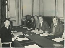 Edmond Maire en délégation Vintage silver print Tirage argentique  12x17