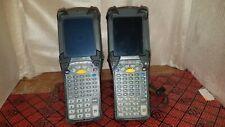 Lot of 2 Motorola Mc9090 Wireless Laser Barcode Scanner Windows Mobile