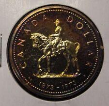 Canada 1973 Silver Dollar RCMP gold Toning