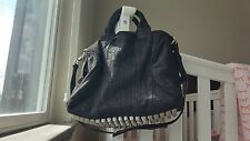 Excellent Condition Rare Alexander Wang Espresso Leather Rocco  Bag