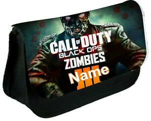 CALL OF DUTY ZOMBIES  Personalised Pencil Case, make up bag, school any name
