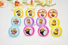 12PCS Despicable Me Minions Cake Cupcake Rings Birthday Party Favors Toppers