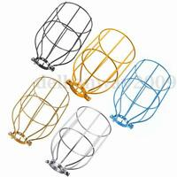 Industrial Style Vintage Bulb Metal Cage Retro Pendant Ceiling Light Lamp Shades
