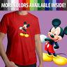 Walt Disney Mascot Mickey Mouse Wink Cute Cartoon Unisex Mens Tee Crew T-Shirt