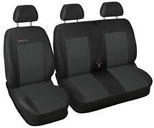 Van seat covers fit Volkswagen Transporter T5 charcoal grey P1