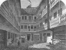 LONDON. Spread Eagle Tavern, Grace Church St, removed, antique print, 1865