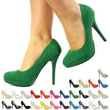Para Mujer Damas Alta Stiletto Heel Platform Court Shoes Tamaño 3-8