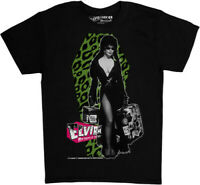 Elvira Leo Luggage Black Unisex Adult Short Sleeve Tee Shirt (Medium) [New ] B