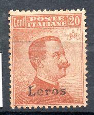 Islas Egeo Lero 1919 - Centavos 20 de Italia Sobrecargado Leros.  Con filigrana