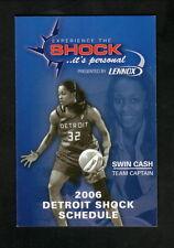 Swin Cash--2006 Detroit Shock Schedule--Lennox