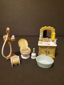Calico Critters Sylvanian Families 16pcs Bathroom Accessories Set