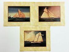 (Set of 3) Yachting/Ship Art Prints~Brixham Trawler~Schooner Genesta & Magic 96'