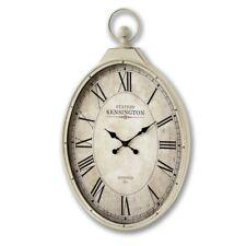 Large Antique Cream Kensington Station Oval Wall Clock (H15596) 96cm