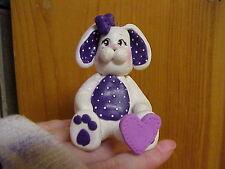 Handmade Clay Personalized Baby Shower Cake Topper Ornament Keepsake Bunny 1