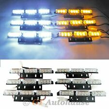 54-LED White/Amber Waterproof Emergency Flashing Strobe Light Grille Roof