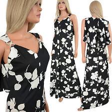 Vtg Mr Simon Mod Maxi Dress DRAPED BACK Fluid Goddess Black White Cutout Graphic