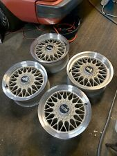 "BBS RG 015 5x112 15"" Inch Wheels Rims RARE All Original Platinum rs rf"