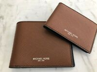 Michael Kors Mens Harrison Passcase ID Billfold Wallet in Saffiano Leather $138