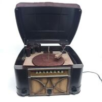 For Repair Vintage Admiral Tube Radio Record Player Art Deco Bakelite Phonograph